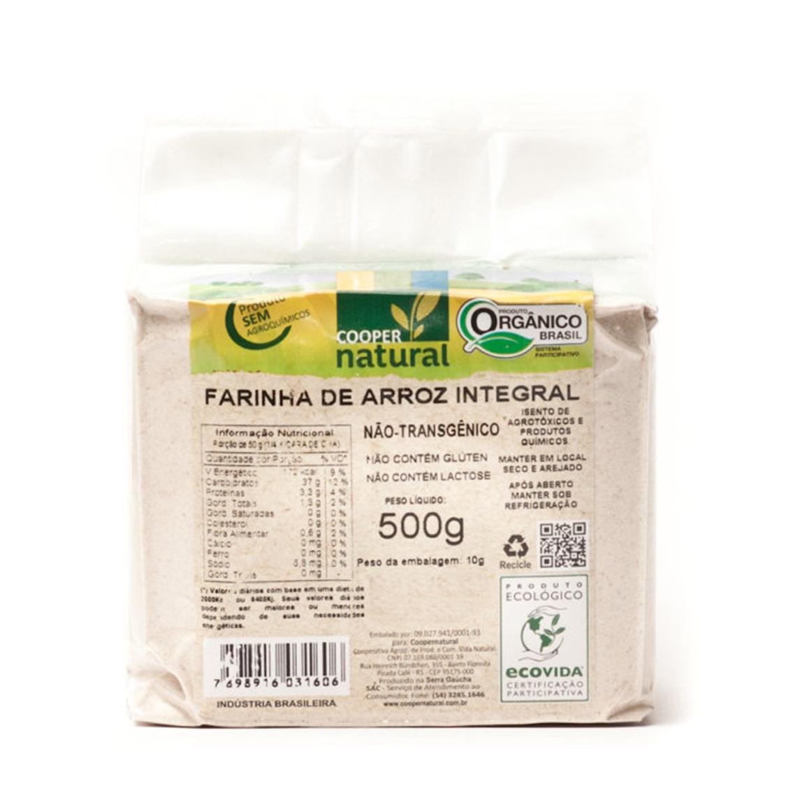 Farinha de Arroz Integral (500g) – Coopernatural