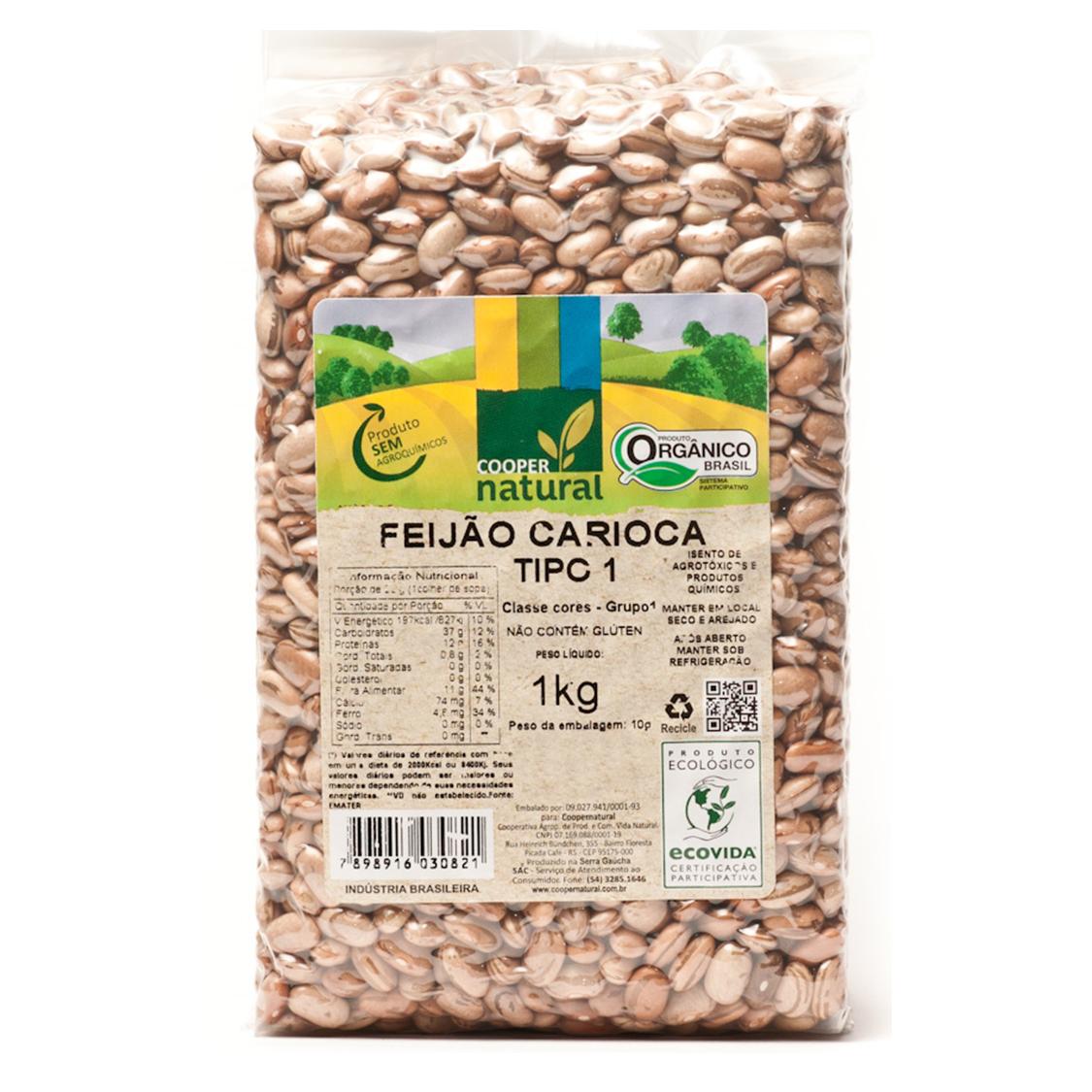 Feijão Carioca (1Kg) – Coopernatural