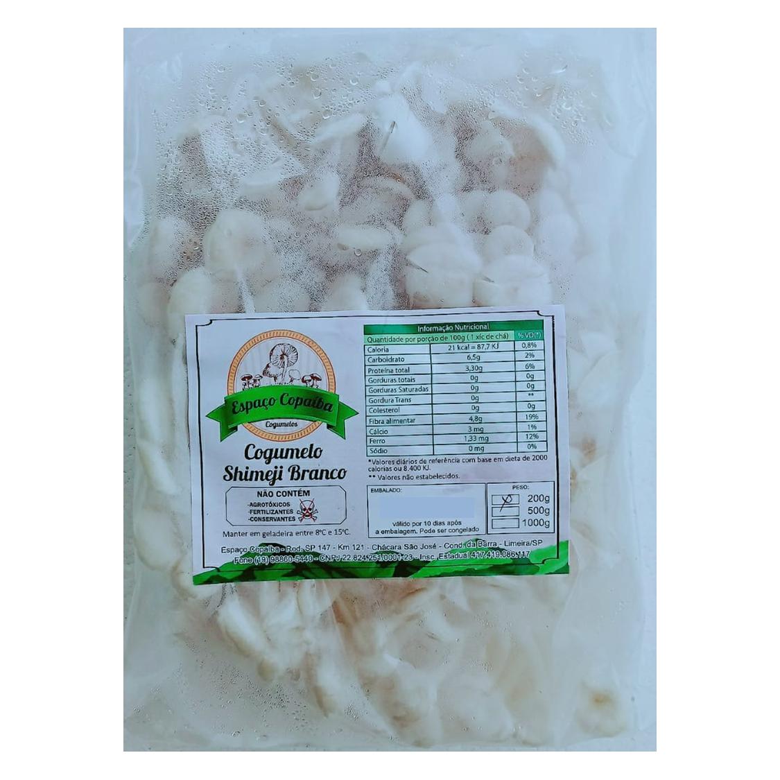 Cogumelo Shimeji Branco (200g) – Espaço Copaíba