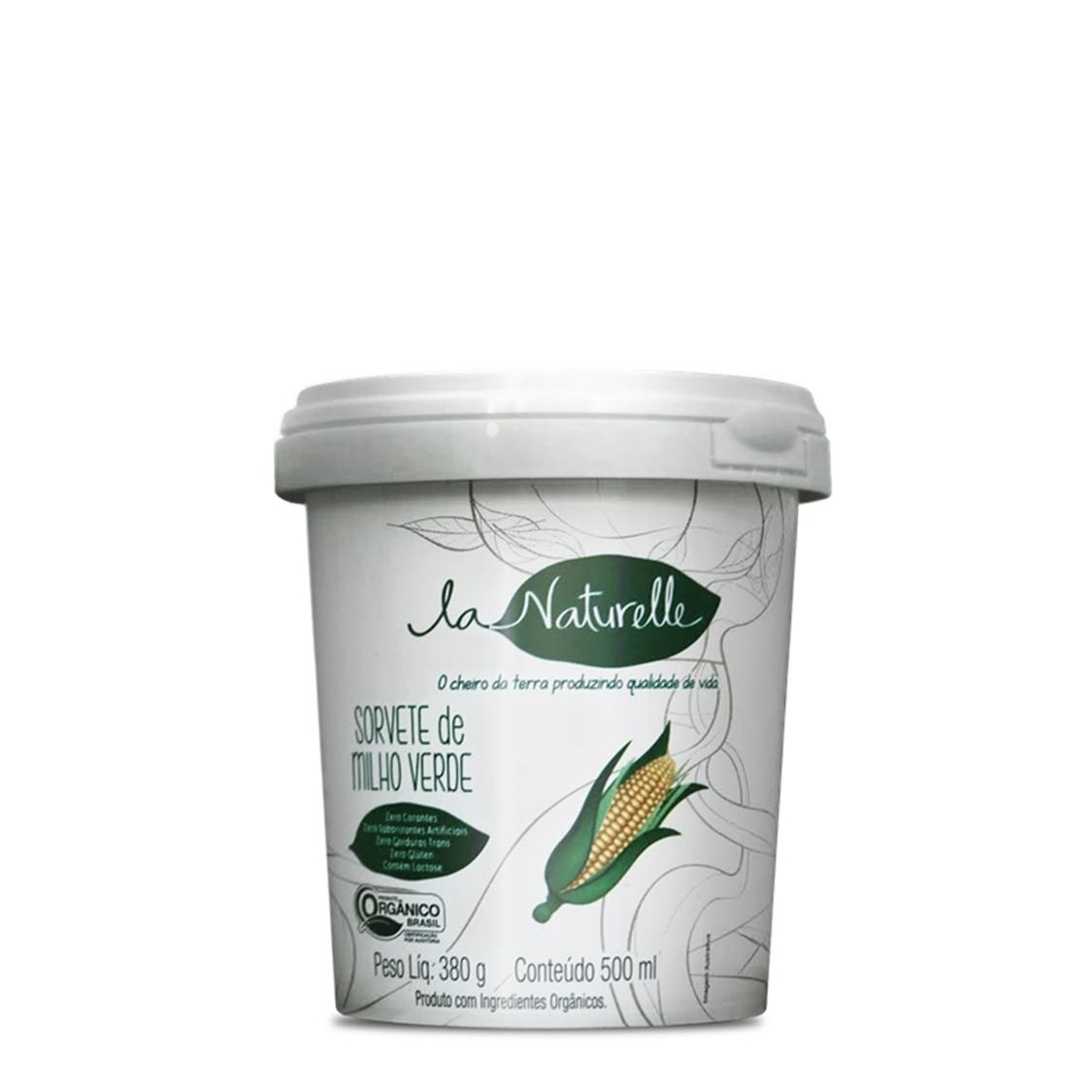 Sorvete de Milho Verde (500ml) – La Naturelle