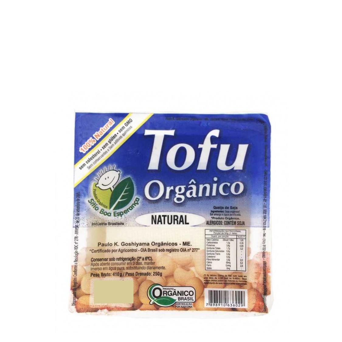 Tofu Natural (250g) – Sítio Boa Esperança