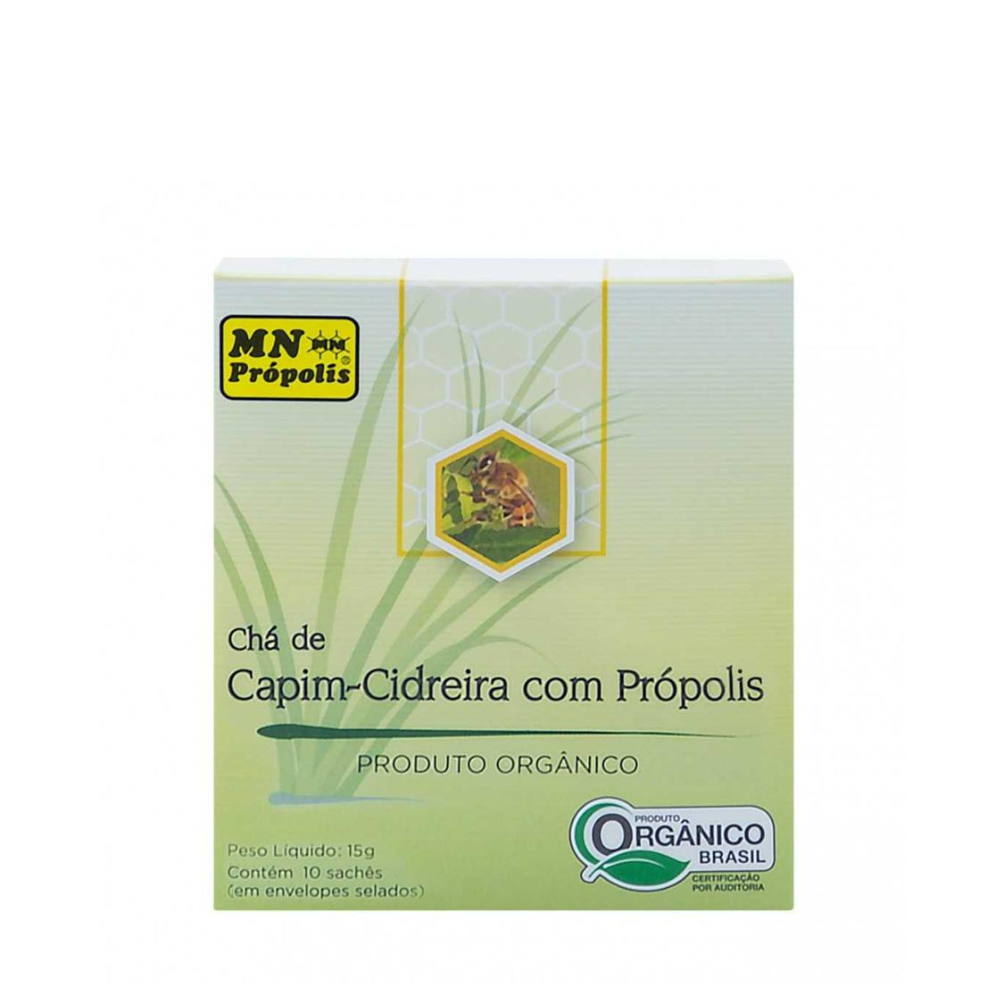 Chá Capim Cidreira c/ Própolis (c/ 10 sachês) – MN Própolis