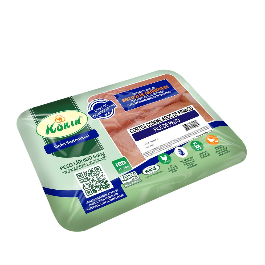 Filé Peito de Frango Sustentável (600g) – Korin