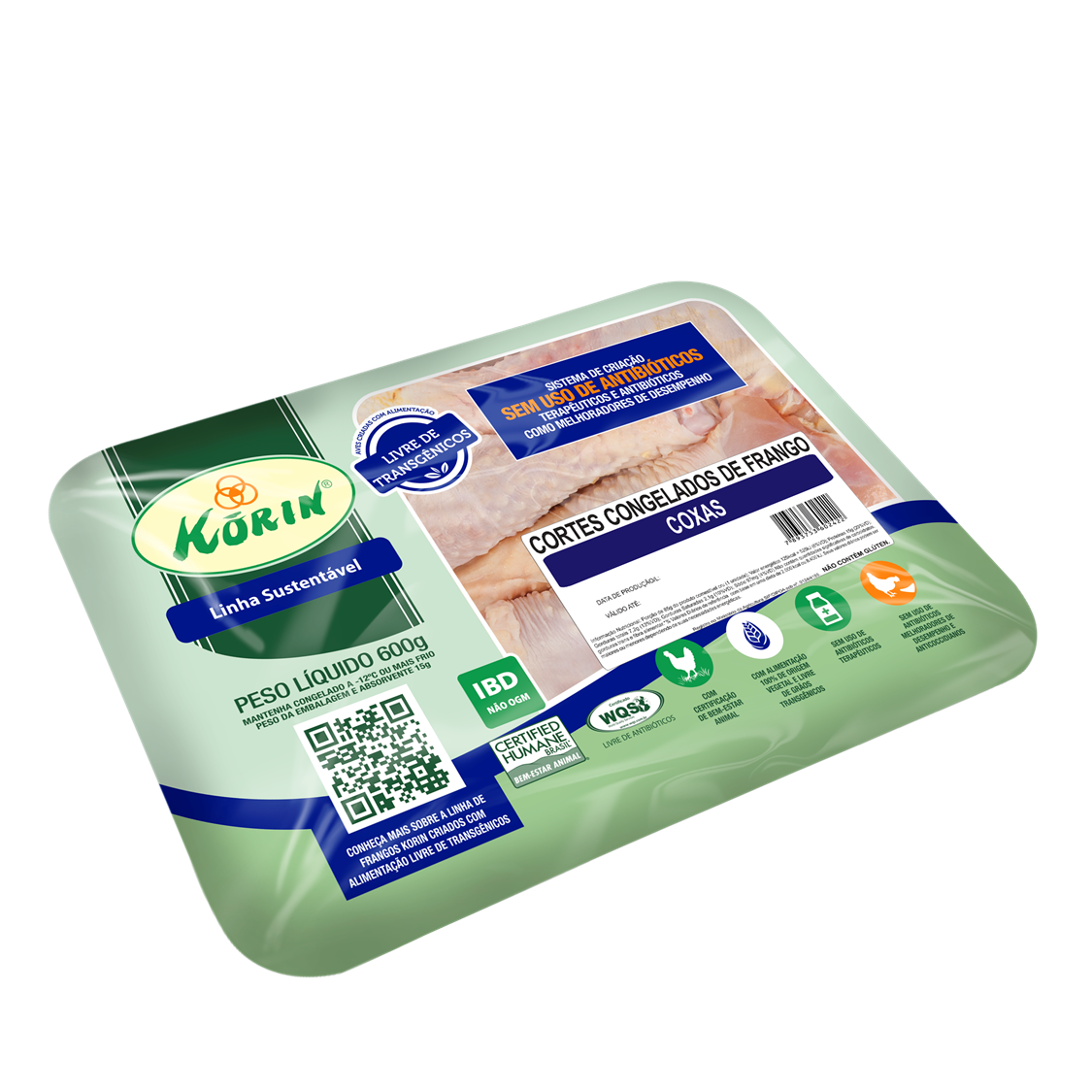 Coxa de Frango Sustentável (600g) – Korin